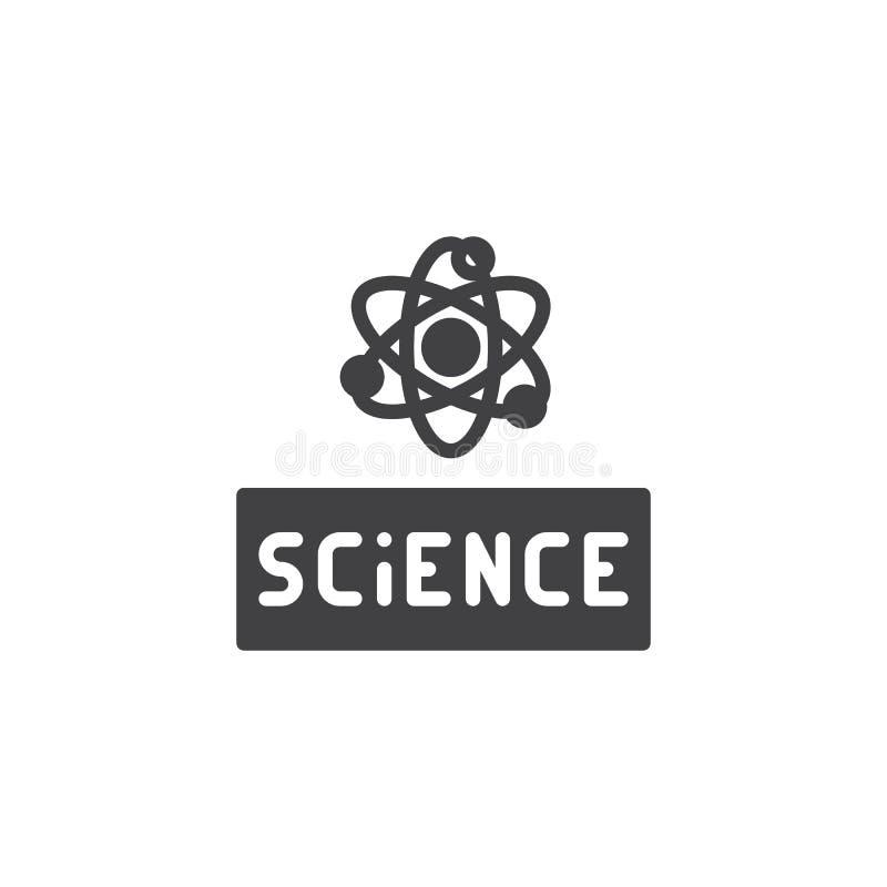 Atom nauki wektoru ikona royalty ilustracja