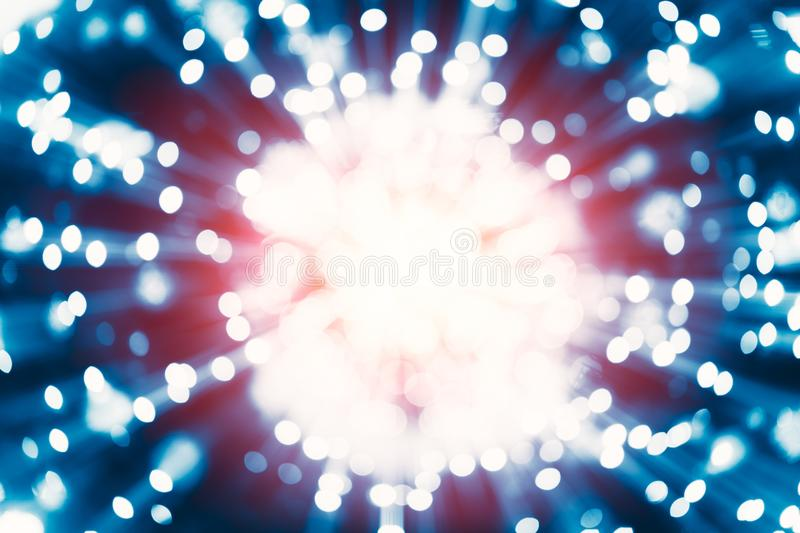 Atom Nuclear reaction explode from Nucleus spread release gamma ray energy. From ine science concept stock photography