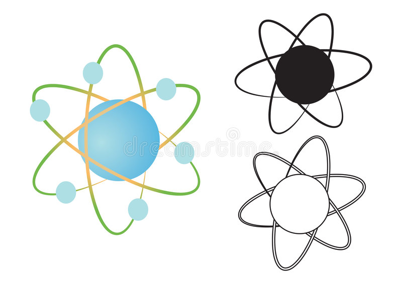 Atom nucleus - vector stock illustration