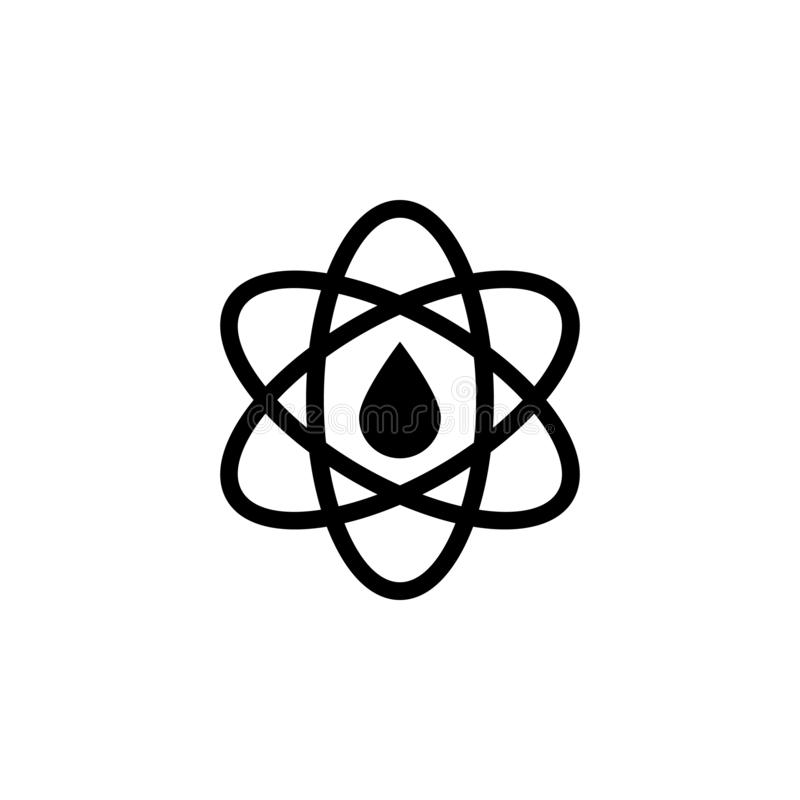 Atom, oil icon on white background. Can be used for web, logo, mobile app, UI UX royalty free illustration