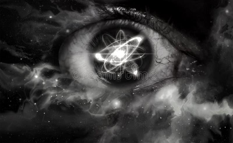 Atom Particle Eyes foto de archivo