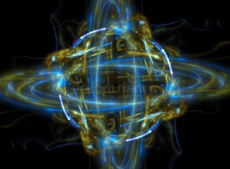 Atom or planet fractal royalty free stock image