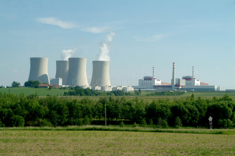 atom- strömstation royaltyfri foto