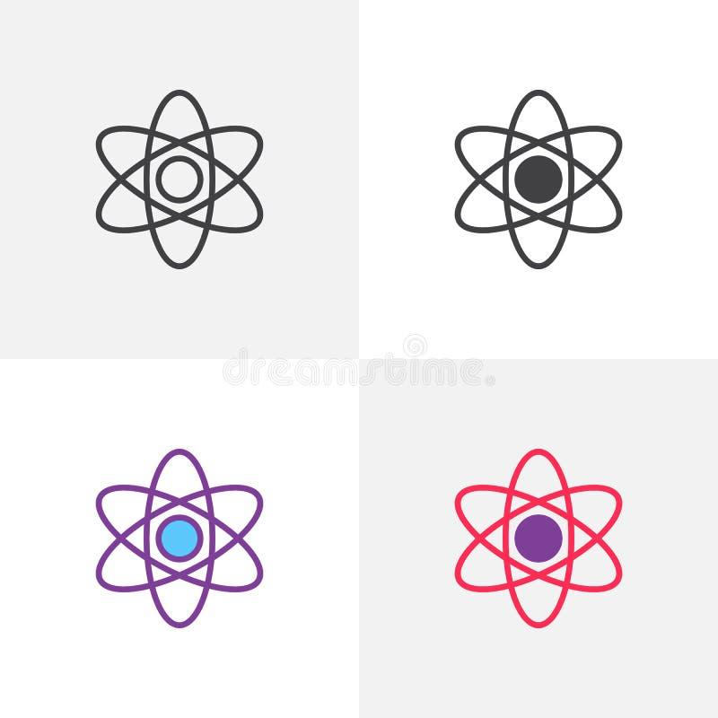 Atom struktury ikona ilustracji
