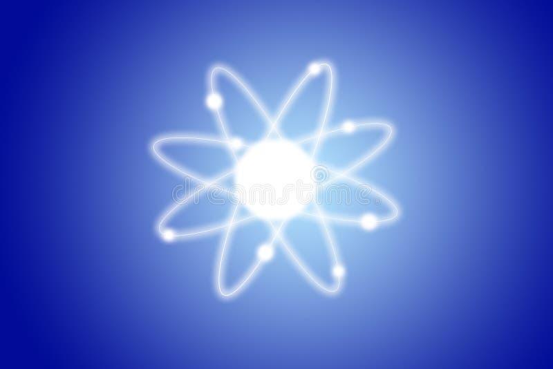 Atom struktury model fotografia stock