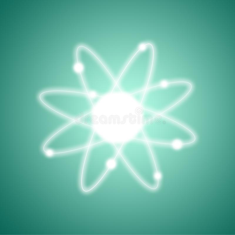 Atom struktury model fotografia royalty free