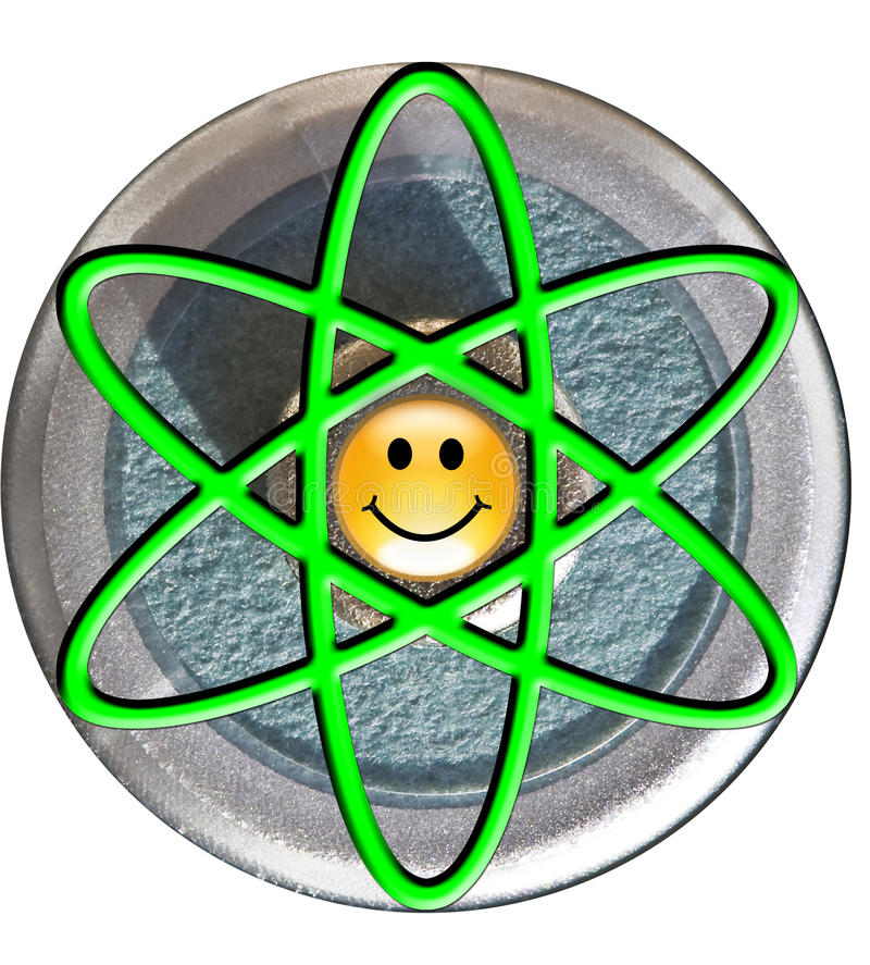 Download Atom Symbol With Smiley Face Nucleus Royalty Free Stock Images - Image: 11457869