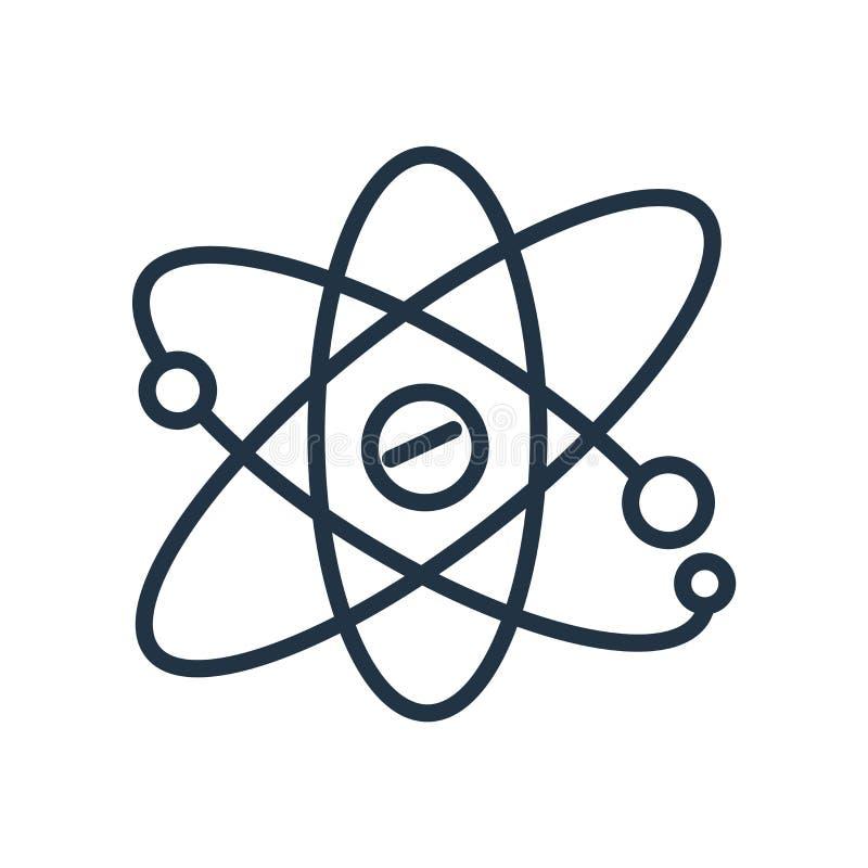 Atom- symbolsvektor som isoleras på vit bakgrund, atom- tecken stock illustrationer