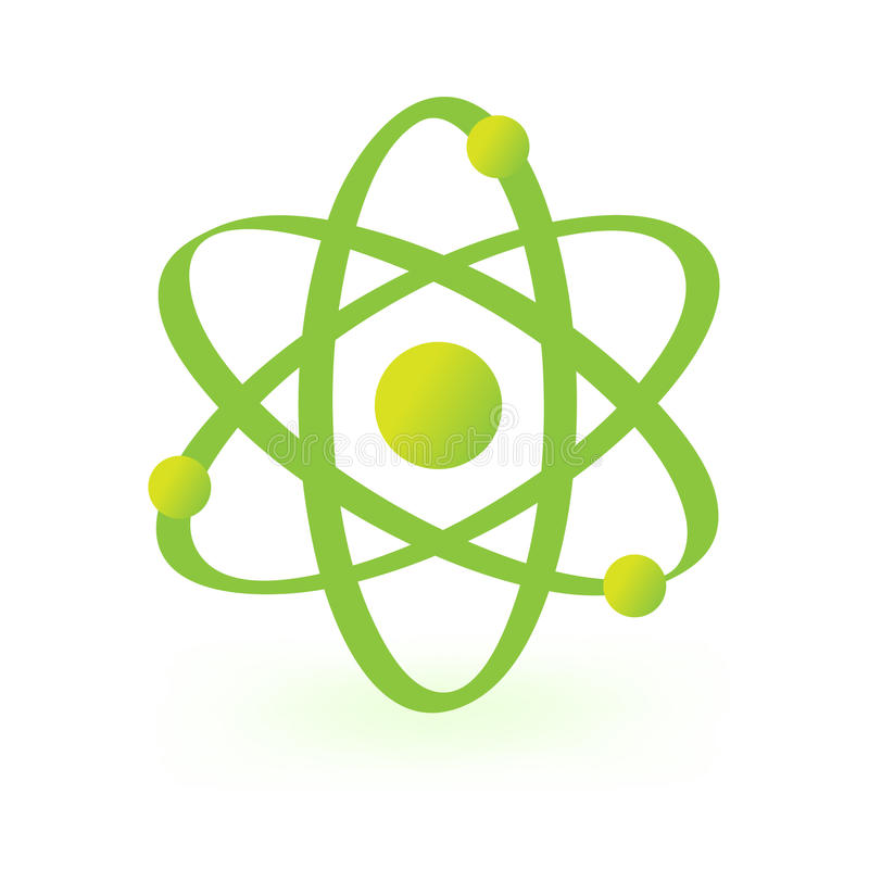 atom- symbolteknologi stock illustrationer