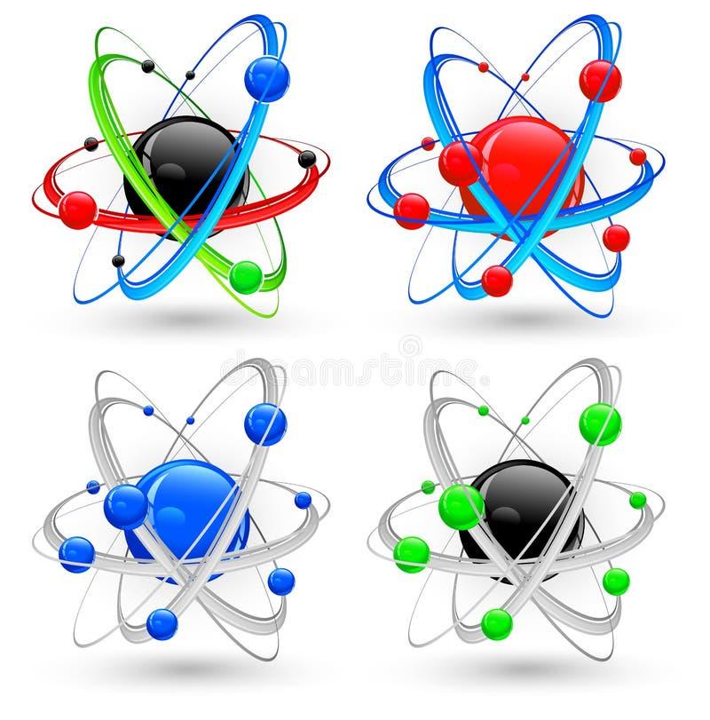 Download Atom variation color stock vector. Image of sign, illustration - 22402087