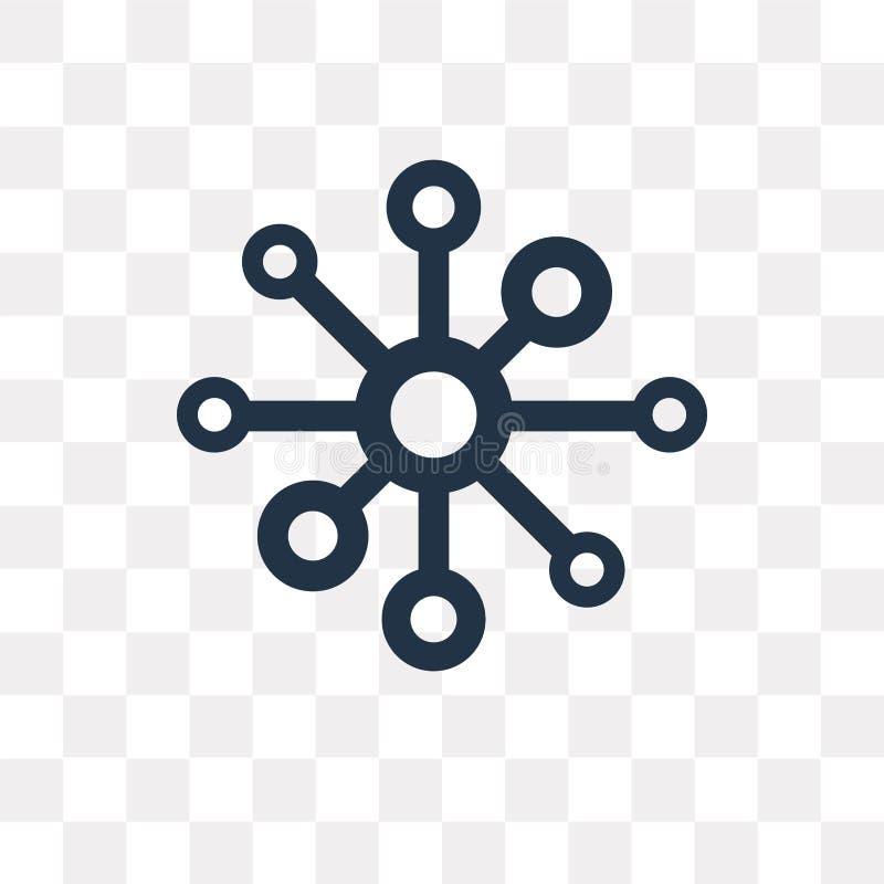 Atom wektorowa ikona odizolowywająca na przejrzystym tle, atomu trans royalty ilustracja
