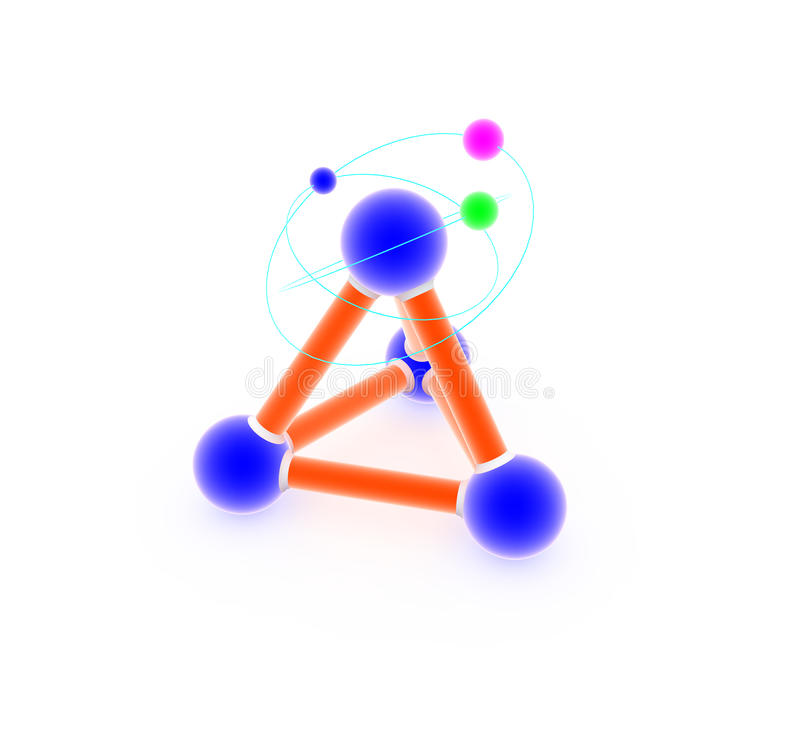 Download Atom on white. stock illustration. Image of connection - 19810291