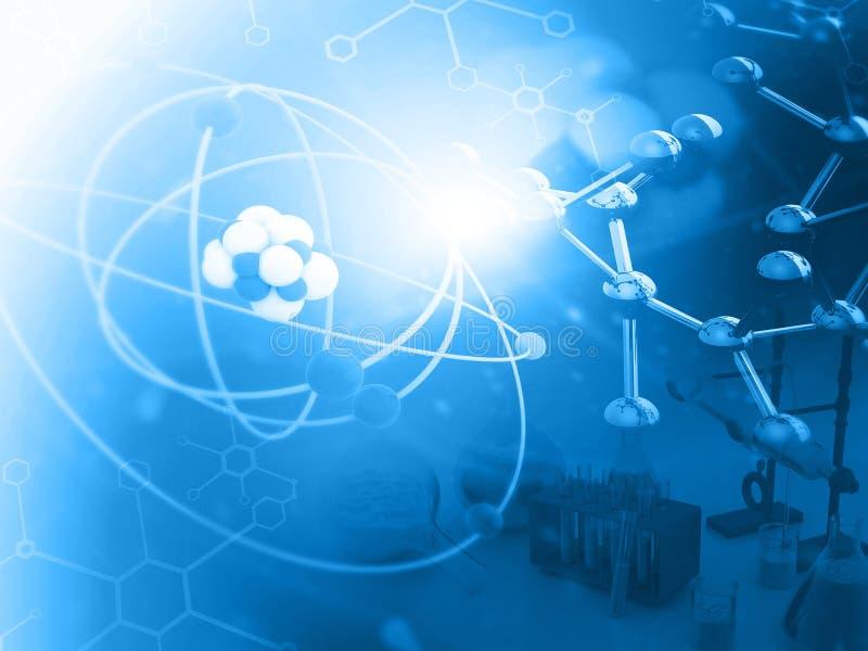 Atom z molekułami zdjęcia royalty free