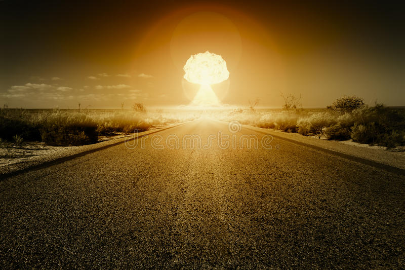 Atombombeexplosion lizenzfreie abbildung