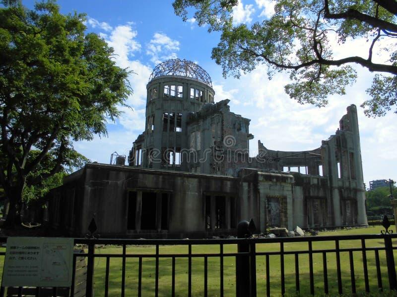 Atombomben-Hauben-Gebäude in Hiroshima, Japan lizenzfreies stockfoto