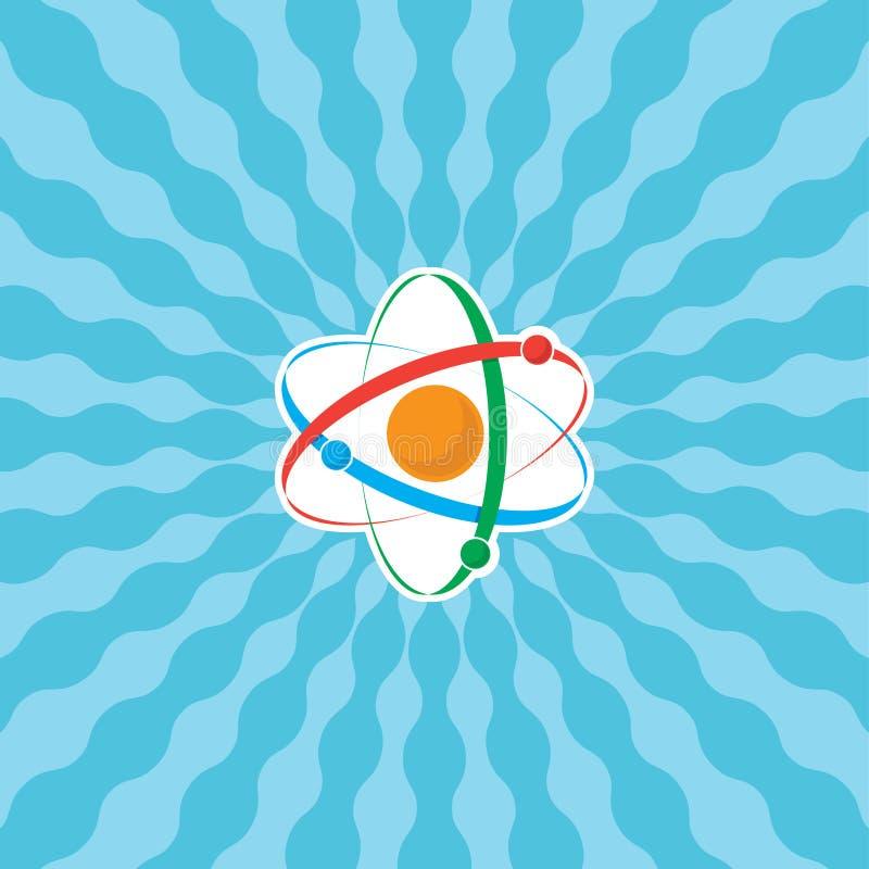 Atome avec des rayons illustration stock