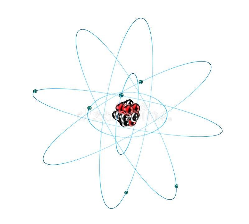 Atome de carbone sur le blanc photographie stock libre de droits