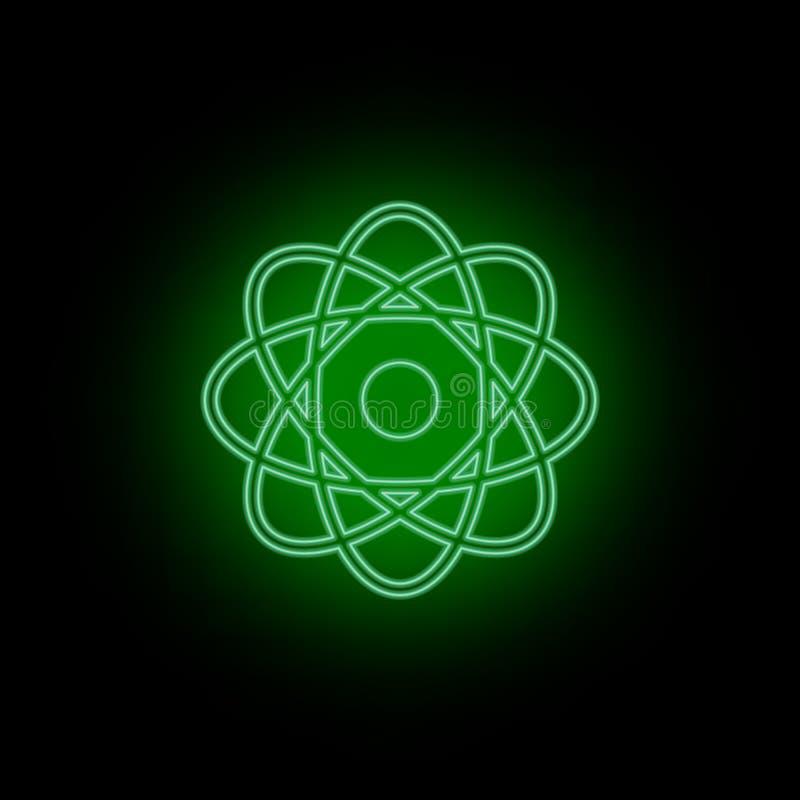 Atome, Ikone, Neon Biotechnologie und Wissenschaft, chemisches Labor Sein, infographic und presendation kann zu verwenden - Vekto vektor abbildung