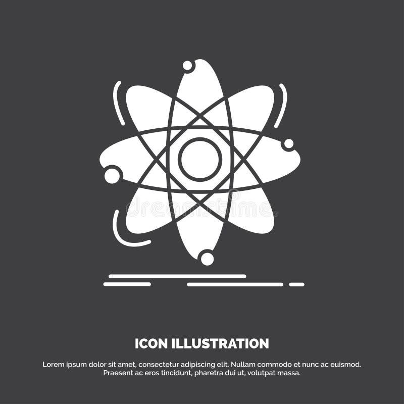 Atome, la science, chimie, physique, ic?ne nucl?aire r illustration libre de droits