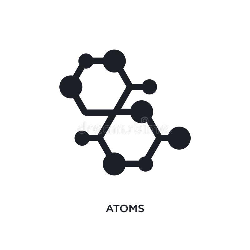 Atome lokalisierte Ikone einfache Elementillustration von den Wissenschaftskonzeptikonen Logozeichen-Symbolentwurf der Atome edit stock abbildung