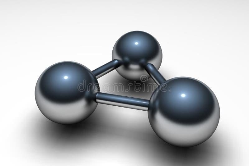 Atome métallique illustration de vecteur