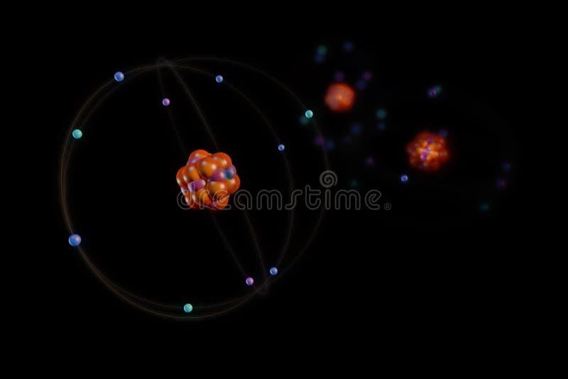 Atome und Partikel lizenzfreie abbildung