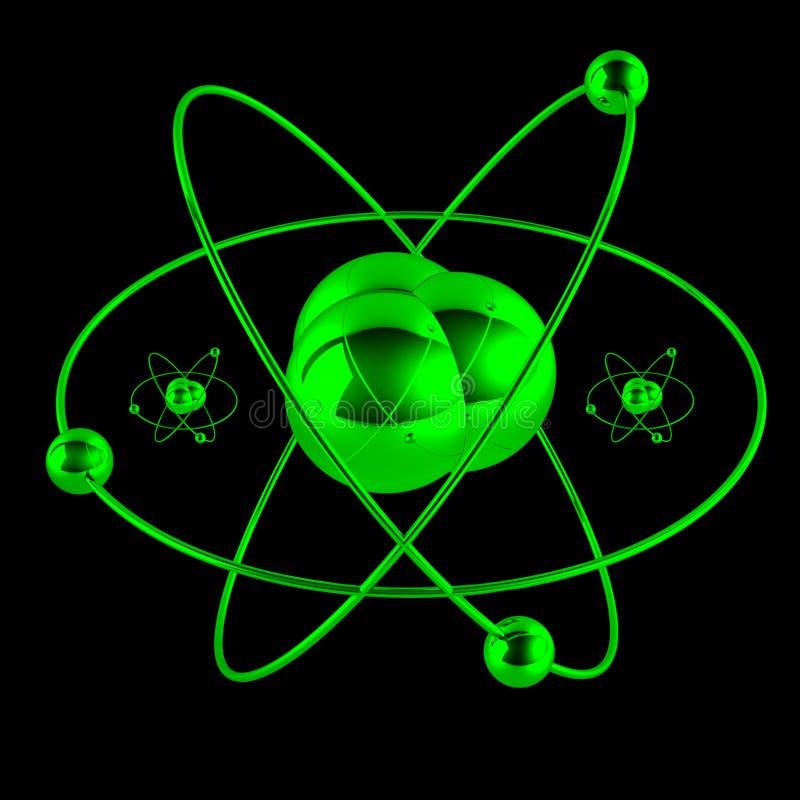 Atome vert illustration de vecteur