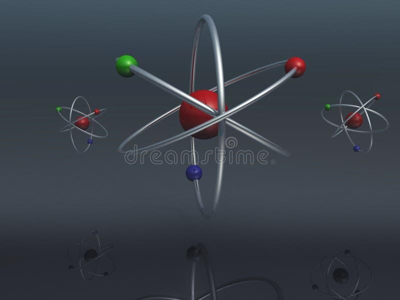 Atomes illustration stock