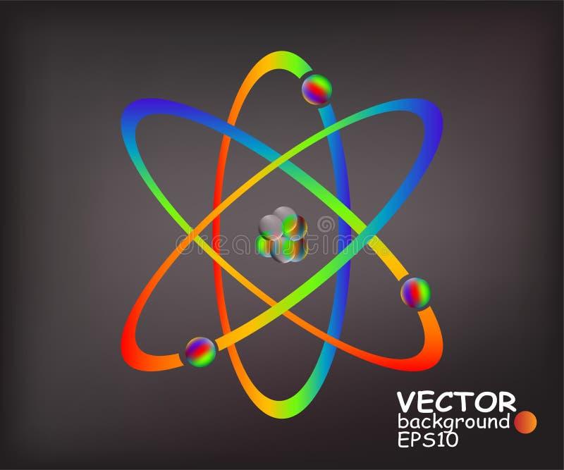 Atomes colorés illustration de vecteur