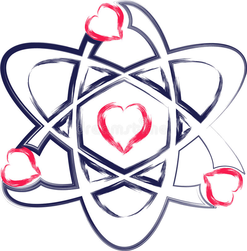 Atomhjärta royaltyfria foton