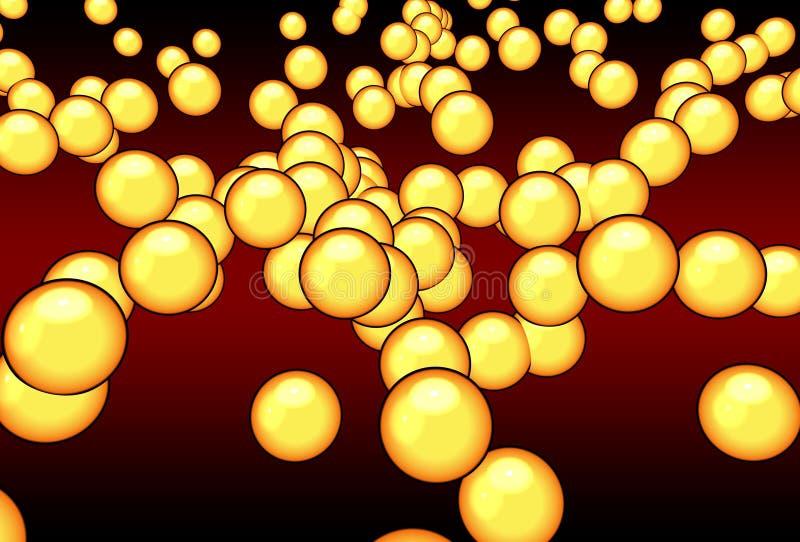 Atomi arancioni royalty illustrazione gratis