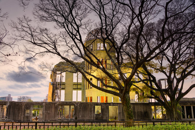 Atomic Bomb Dome in Hiroshima. Atomic Bomb Dome in Peace Memorial Park, Hiroshima, Japan royalty free stock image