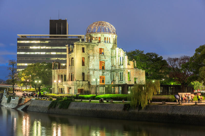 The Atomic Dome in Hiroshima, Japan. Destroyed by the first Atomic bomb in war royalty free stock photo