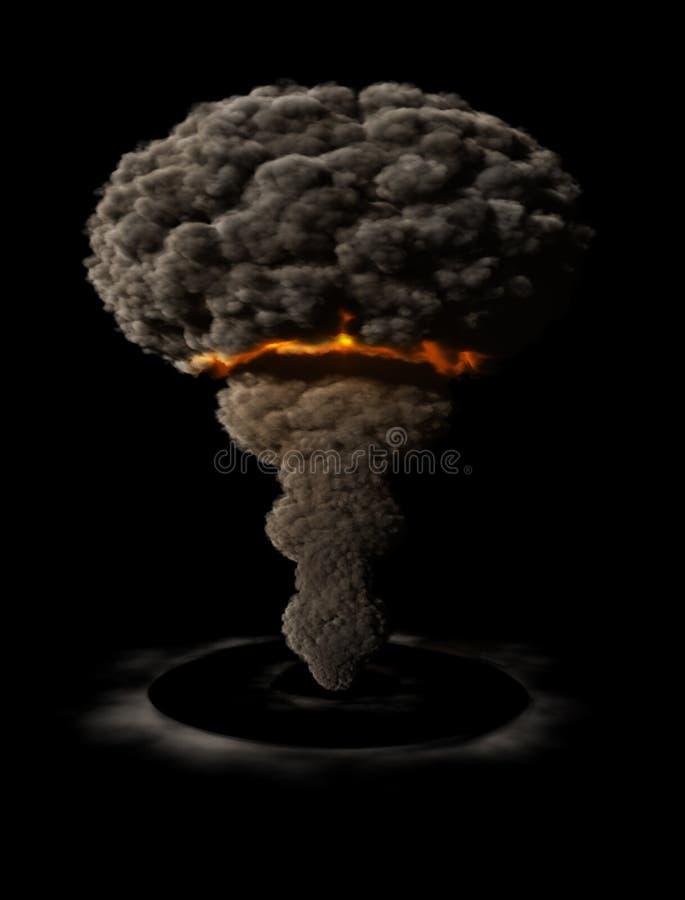 Atomic explosion vector illustration