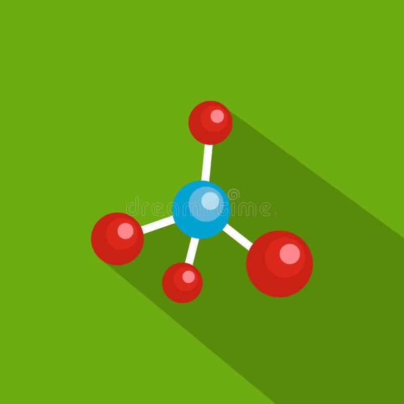 Atomic grid icon, flat style stock illustration