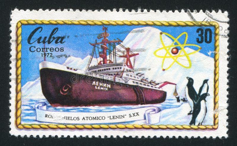 Atomic icebreaker Lenin stock photography