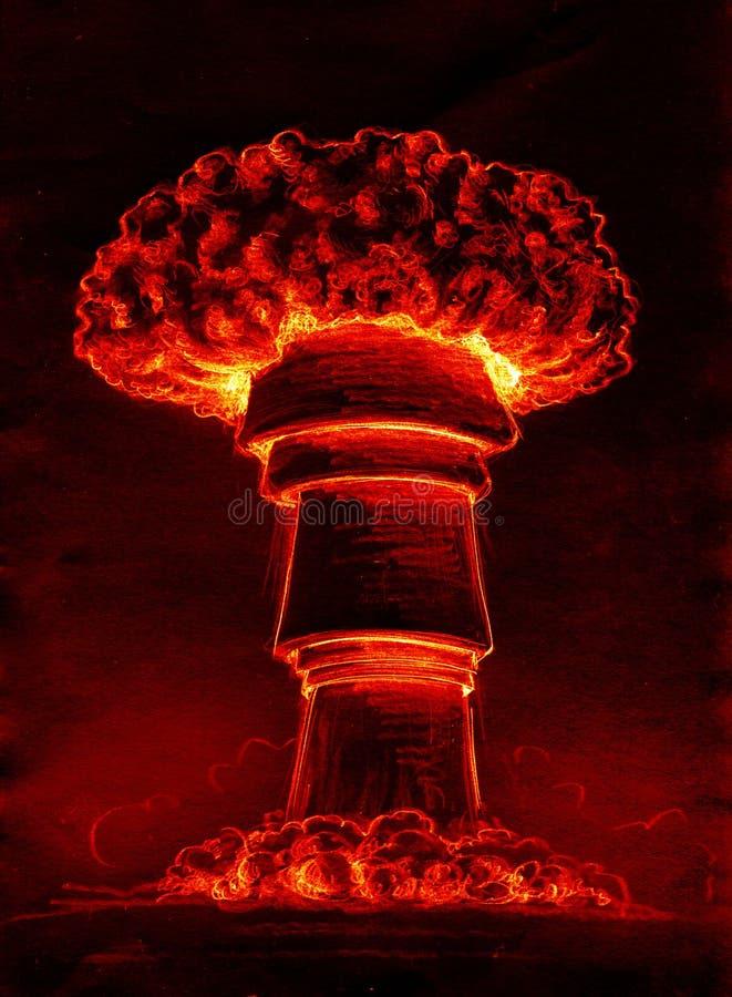 Atomic mushroom cloud vector illustration
