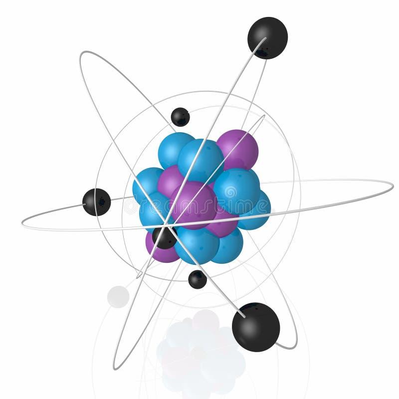 Download Atomic nucleus stock illustration. Illustration of order - 17187841