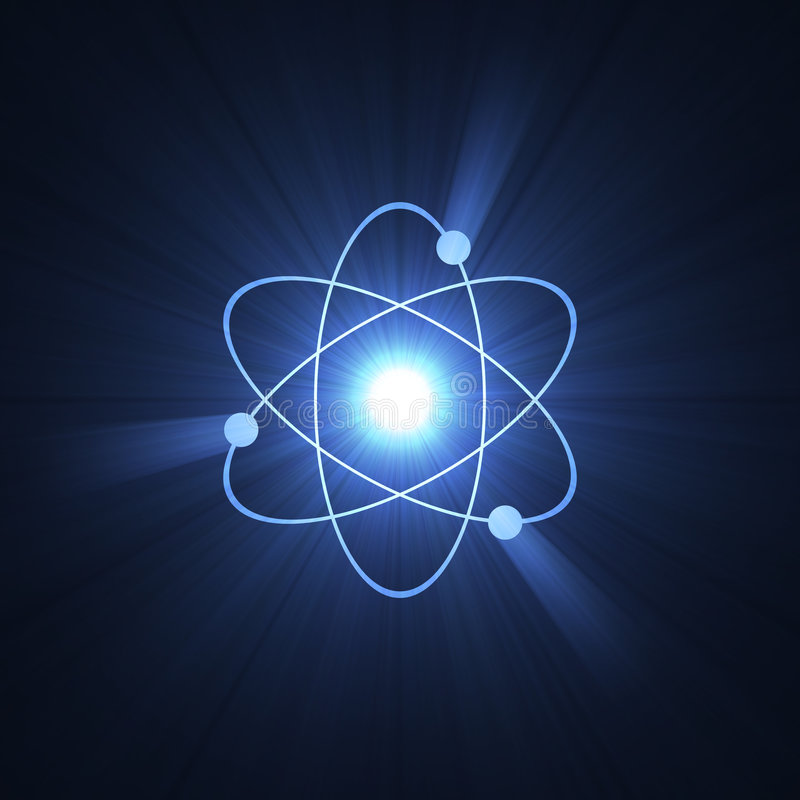 Free Atomic Sign Atom Structure Halo Royalty Free Stock Images - 3428039