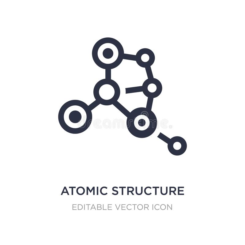 Atomic structure icon on white background. Simple element illustration from Medical concept. Atomic structure icon symbol design stock illustration