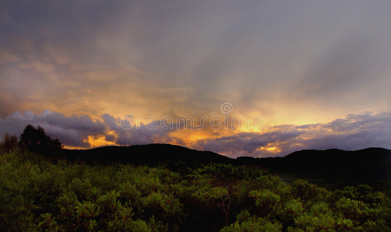 Atomic sunrise Sky royalty free stock image
