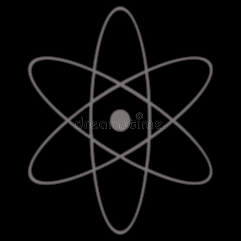 Atomic Symbol. A black illustration of a simple atom symbol vector illustration