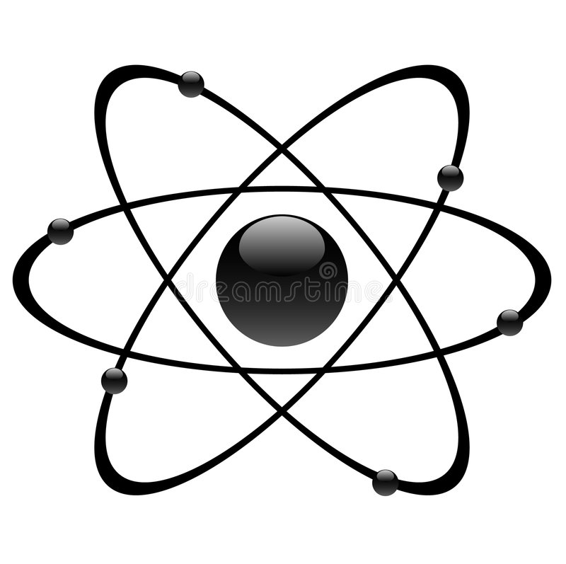 Atomic symbol stock illustration