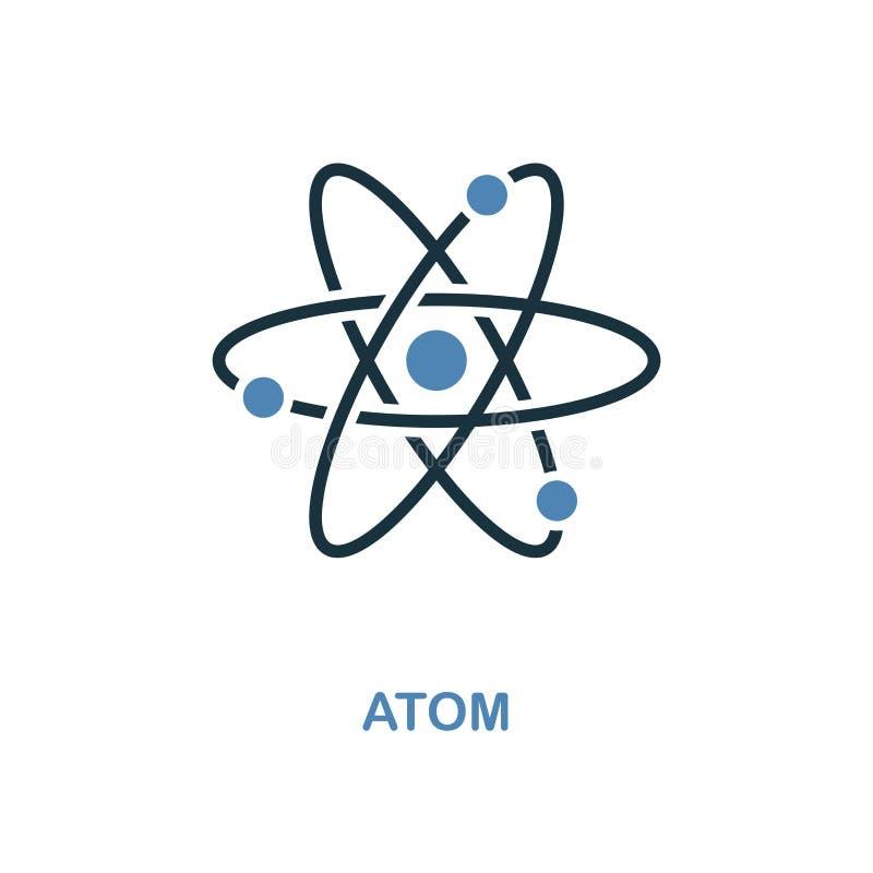 Atomikone Einfache Elementillustration Perfekter Ikonenentwurf des Atompixels von der Ausbildungssammlung Anwendung für Webdesign lizenzfreie abbildung