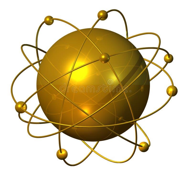 Atomium de oro libre illustration