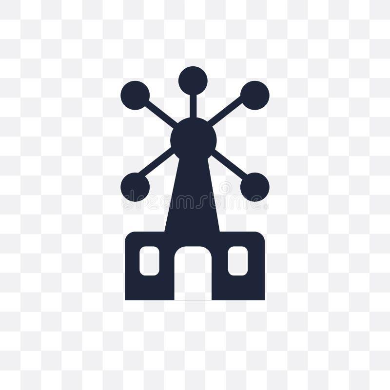 Atomium transparent icon. Atomium symbol design from Architecture collection. stock illustration