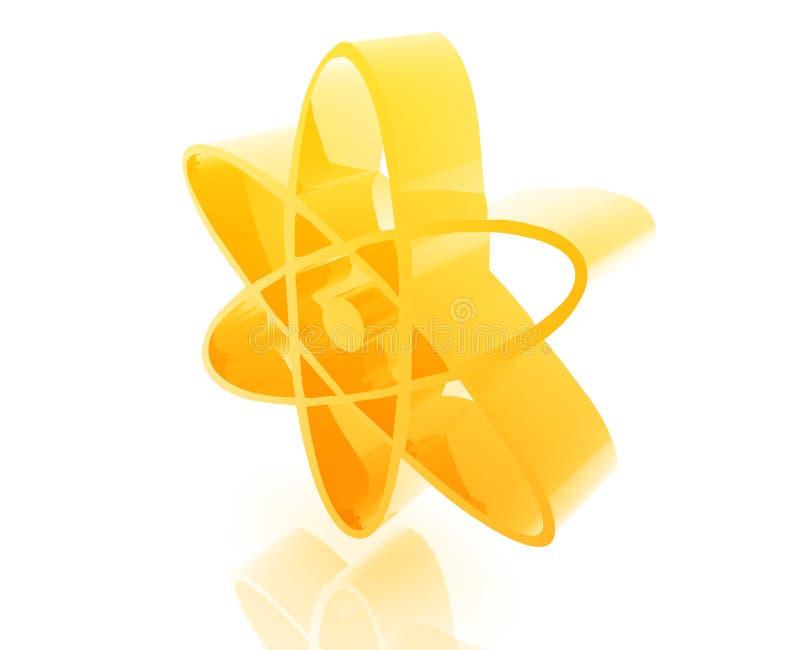 Atomkernsymbol vektor abbildung