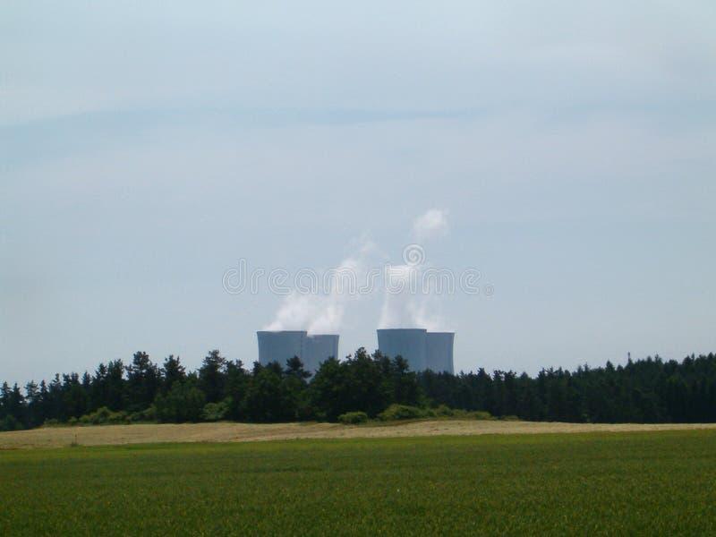 Atomkraftwerk Dukovany lizenzfreie stockbilder
