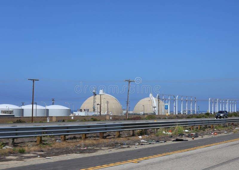 Atomkraftwerk Sans Onofre stockfotos