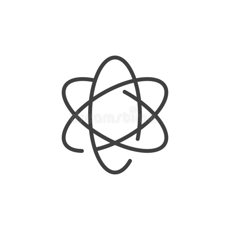 Atomlinje symbol royaltyfri illustrationer